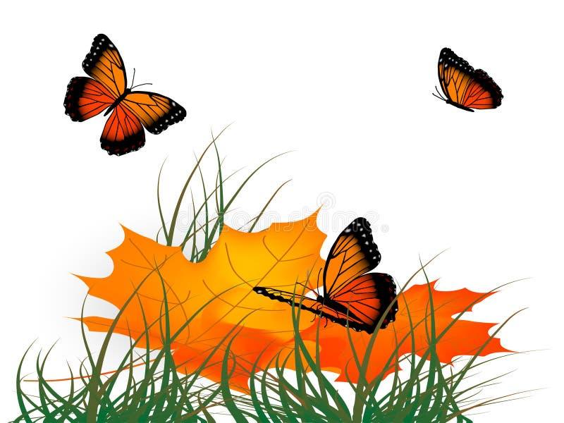 Blätter und Basisrecheneinheiten lizenzfreie abbildung