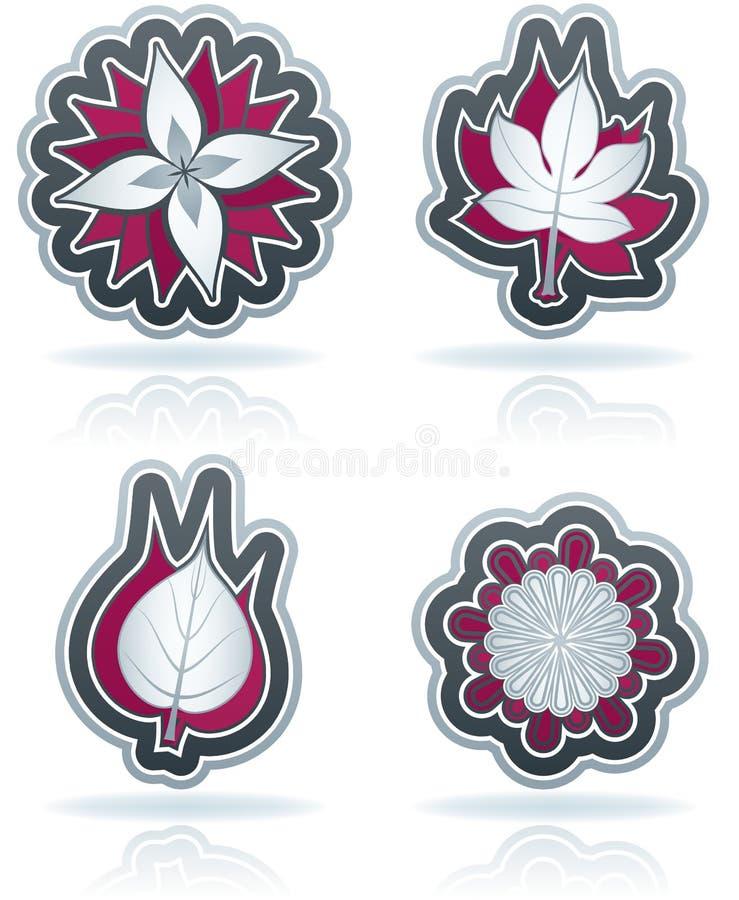 Download Blätter und Blumen vektor abbildung. Illustration von blau - 27731900