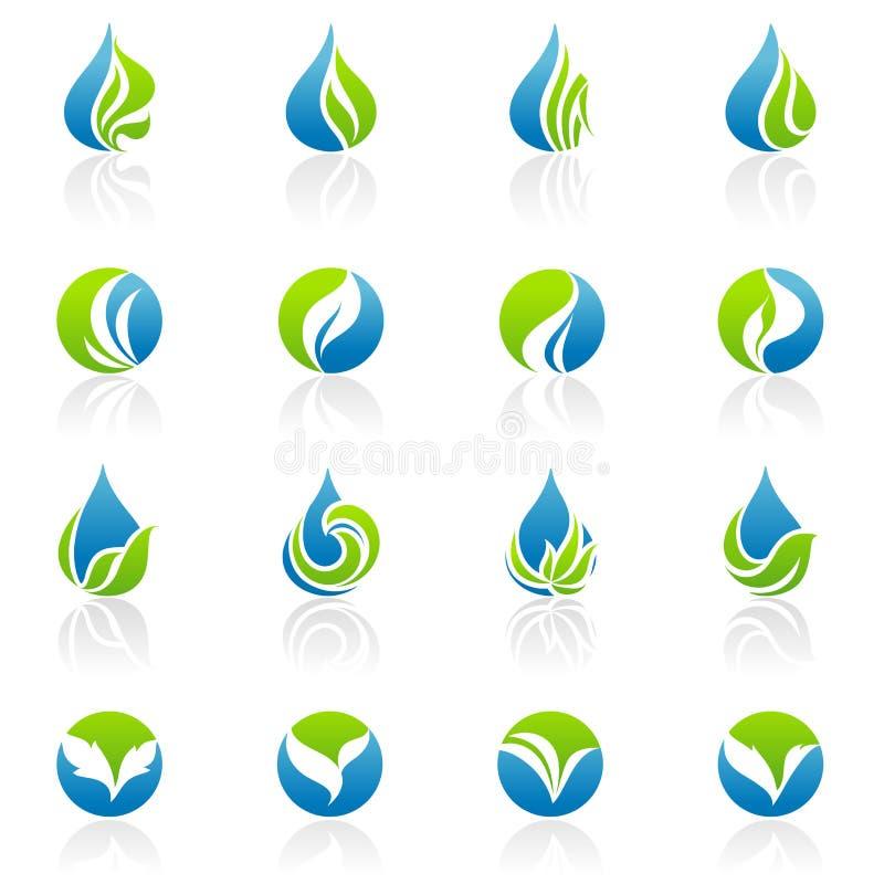Blätter. Vektorzeichen-Schablonenset. vektor abbildung