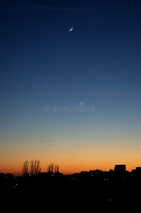 Bläulicher Sonnenuntergang stockbilder