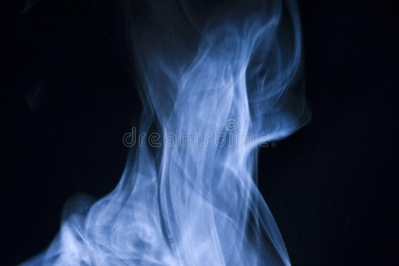 blå ånga arkivfoto