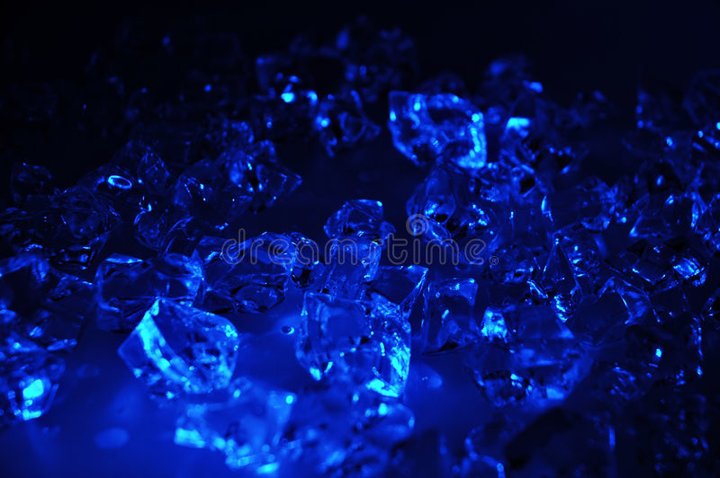 blå is royaltyfri foto