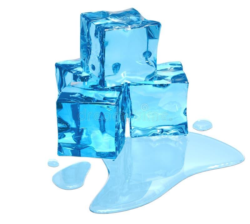 blå is arkivfoto