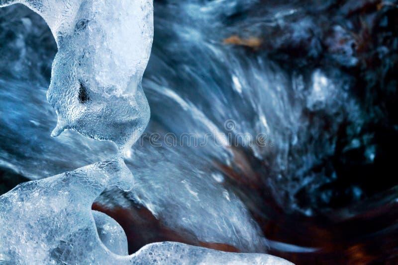 blå is arkivfoton