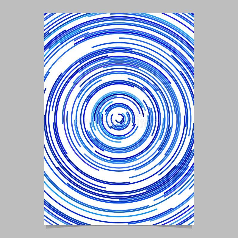 Blå abstrakt affischbakgrund från koncentriska cirklar royaltyfri illustrationer