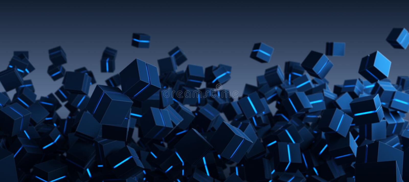 Blå abstrakt askteknologibakgrund royaltyfri illustrationer