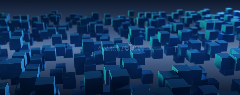 Blå abstrakt askteknologibakgrund stock illustrationer