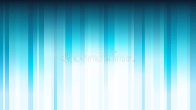 Blå abstrakt bakgrund med vertikala skinande band stock illustrationer
