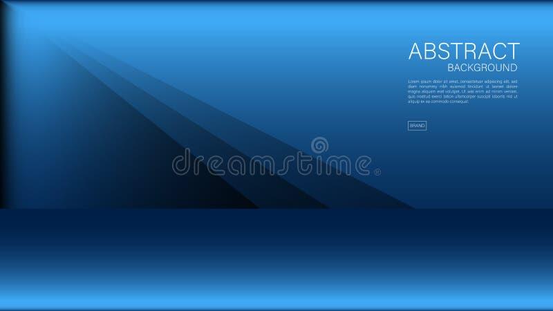 Blå abstrakt bakgrund, polygon, geometrisk vektor, grafisk minsta textur, räkningsdesign, reklambladmall, baner, webbsida royaltyfri illustrationer