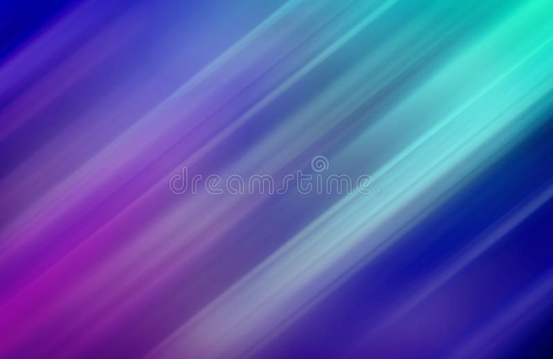 Blå abstrakt bakgrund, suddigt som är diagonal, band, design, lila, ljus effekt vektor illustrationer