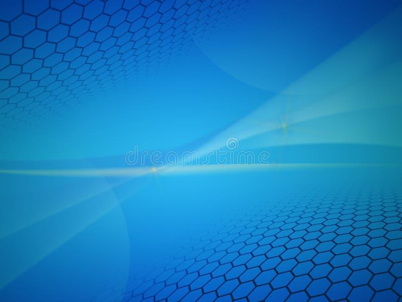 Blå abstrakt bakgrundsorientering royaltyfri foto