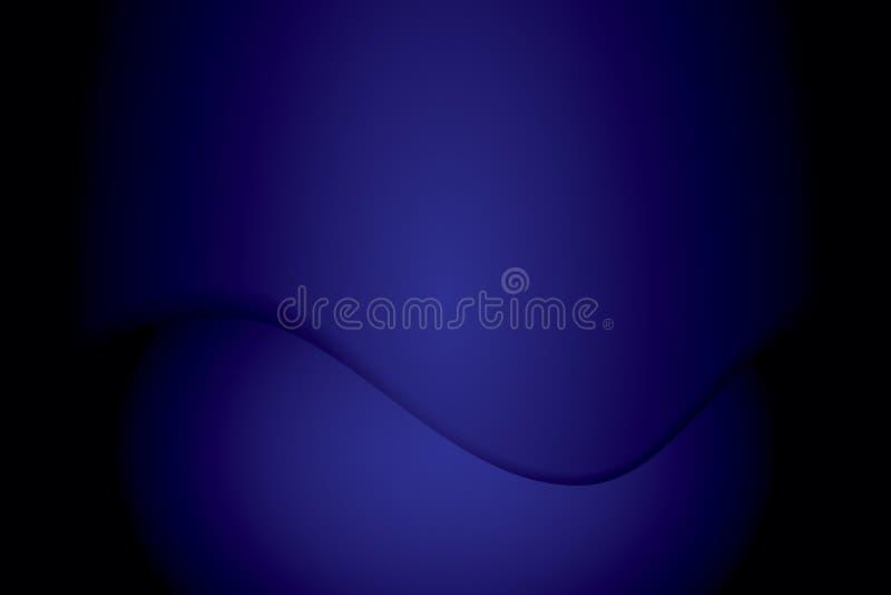 Blå abstrakt begrepppappersbakgrund stock illustrationer