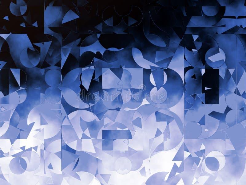 Blå abstrakt geometrisk bakgrundsillustration royaltyfria foton