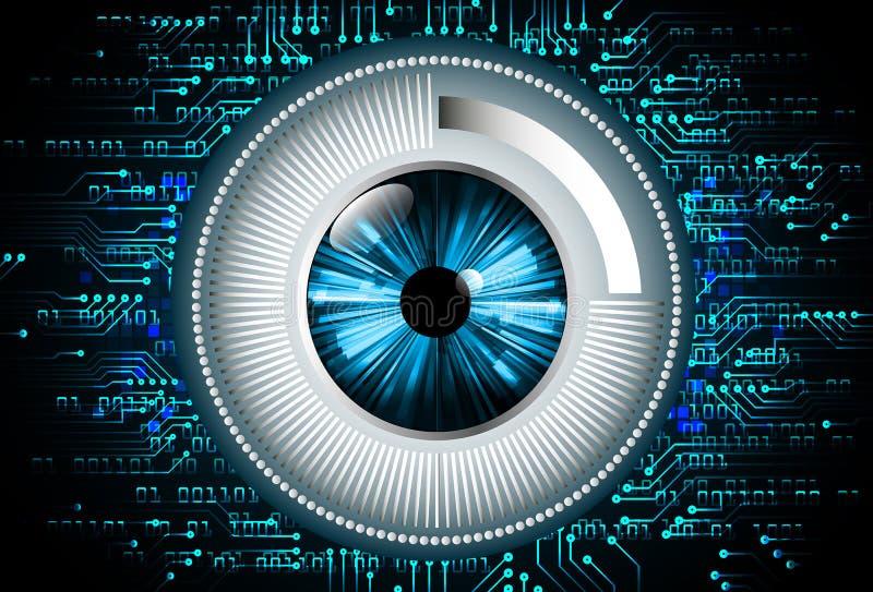 Blå abstrakt hög illustration för bakgrund för hastighetsinternetteknologi royaltyfri illustrationer