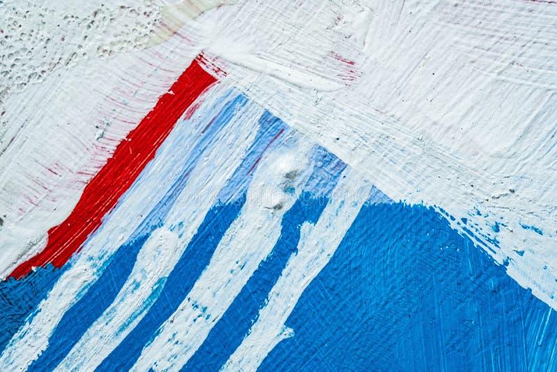 Blå abstrakt hand målad kanfasbakgrund, textur Färgrik texturerad bakgrund arkivbild