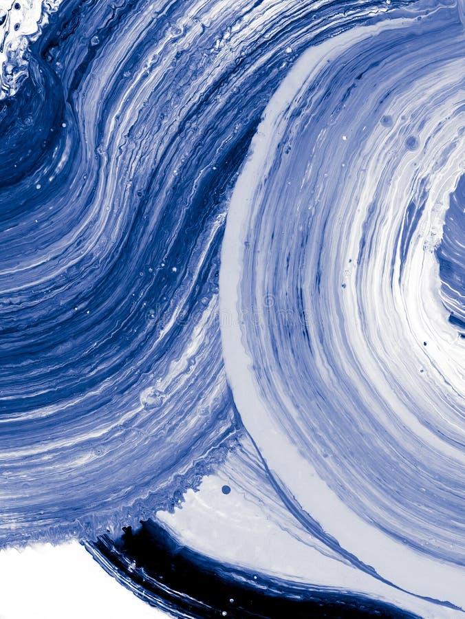 Blå abstrakt idérik hand målad bakgrund vektor illustrationer