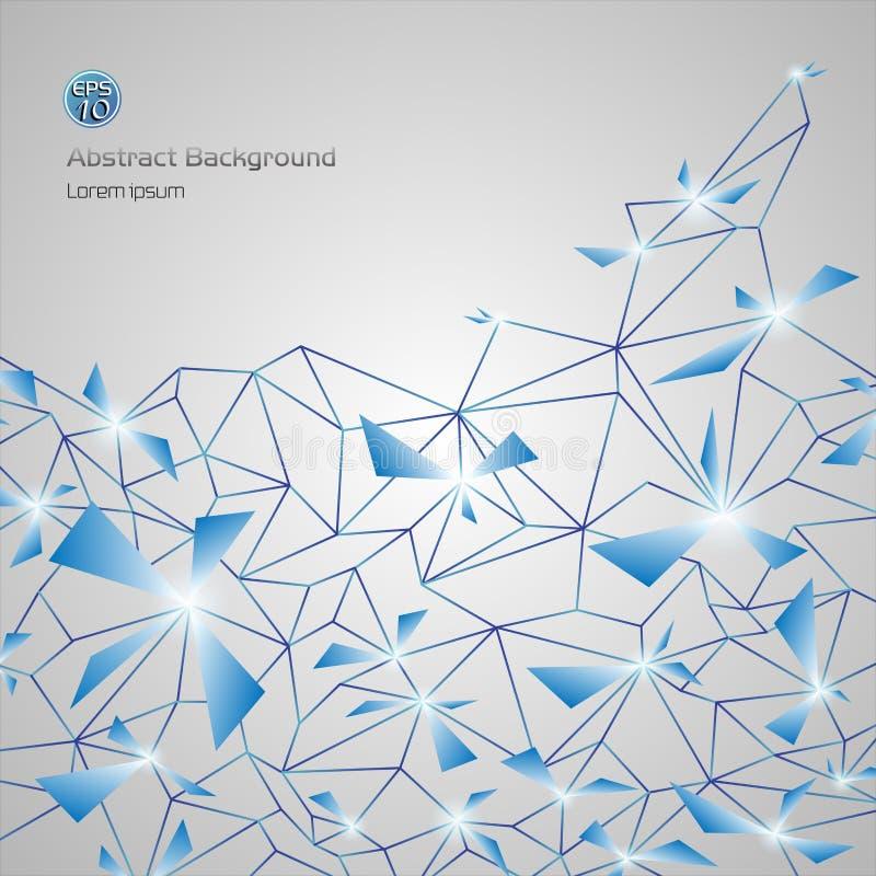 Blå abstrakt ingreppsbakgrund av affärspolygonen med cirklar fodrar och formar vektor illustrationer