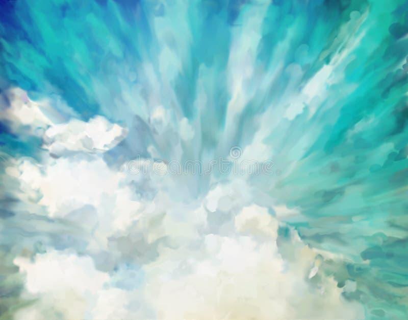Blå abstrakt konstnärlig bakgrund vektor illustrationer