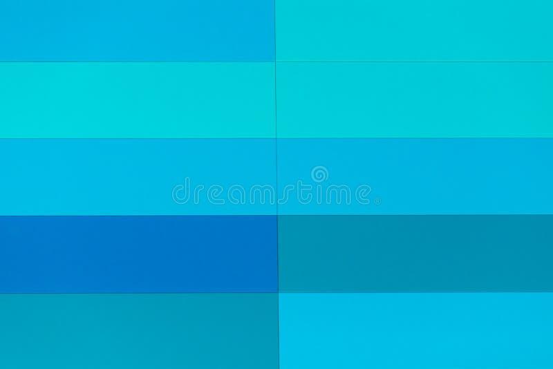 Blå abstrakt modell av målat glassfönstret arkivfoto
