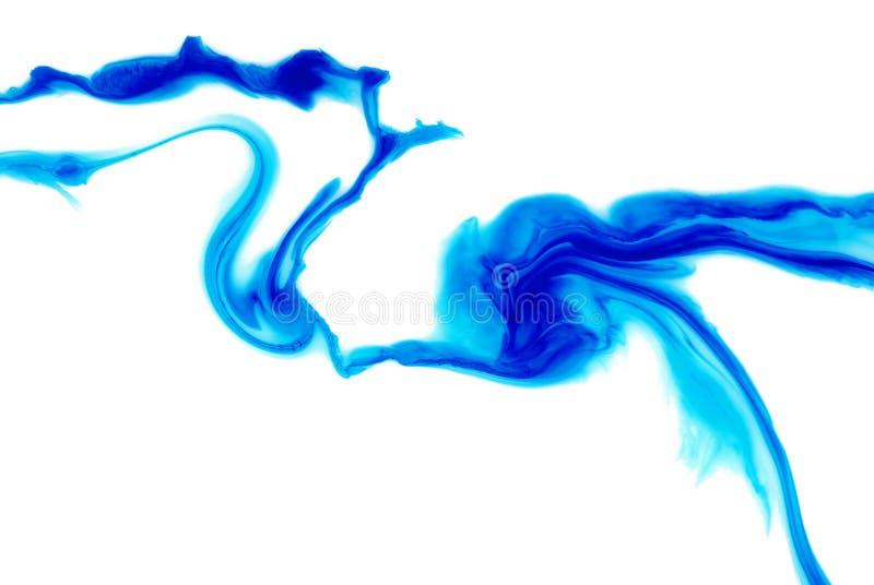 Blå abstrakt modell på en vit bakgrund blåa fläckar på vit royaltyfri bild