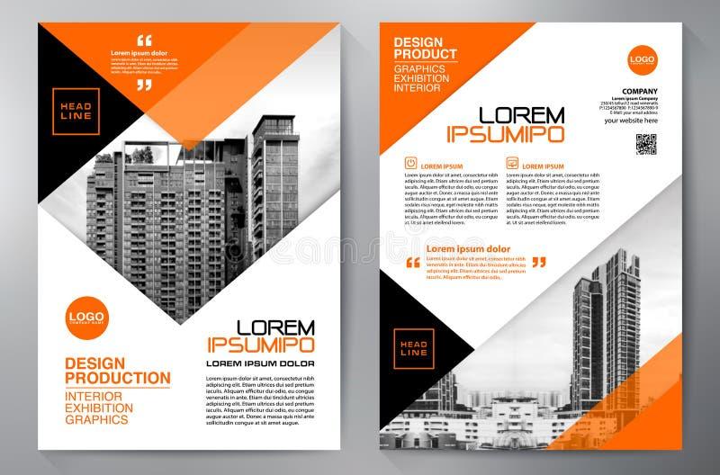 Blå abstrakt orienteringsmall med fyrkanter Content vektorbakgrund för presentation Mall för broschyrer a4 Räkningsbu stock illustrationer