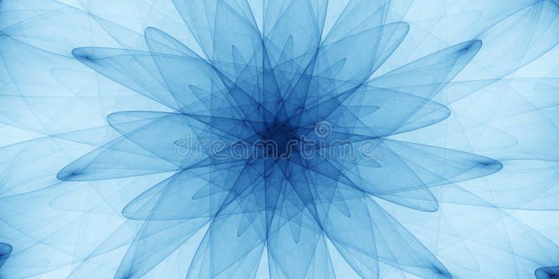 Blå abstrakt prydnad fotografering för bildbyråer