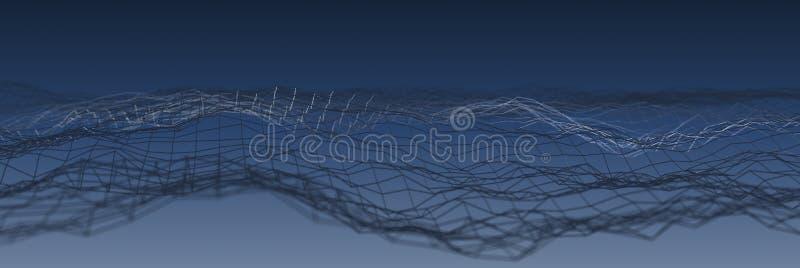 Blå abstrakt rasterteknologibakgrund vektor illustrationer
