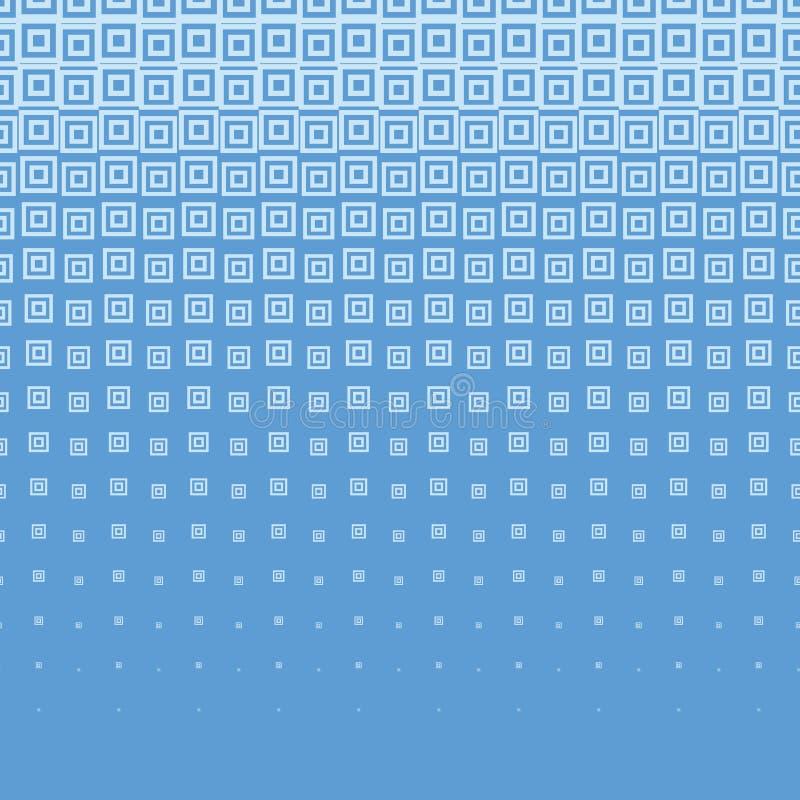 Blå abstrakt rastrerad bakgrund med fyrkanten vektor illustrationer