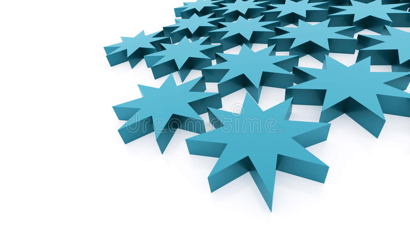 Blå abstrakt stjärnabakgrund stock illustrationer