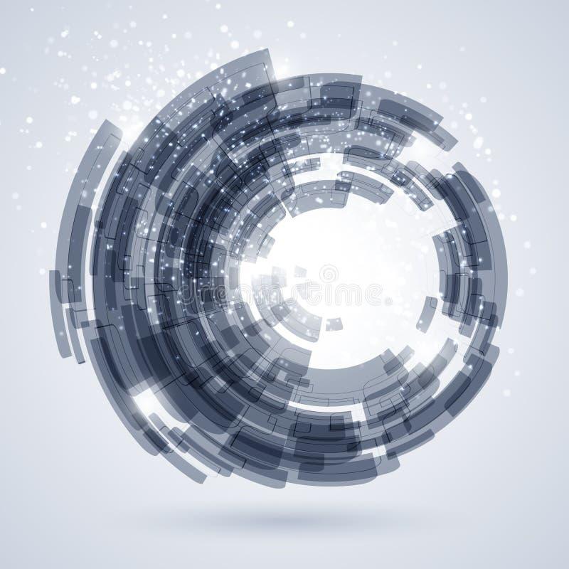 Blå abstrakt teknologibakgrund vektor illustrationer