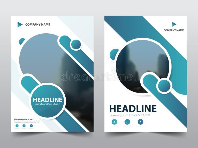 Blå abstrakt vektor för mall för design för triangelårsrapportbroschyr Affisch för tidskrift för affärsreklamblad infographic abs stock illustrationer