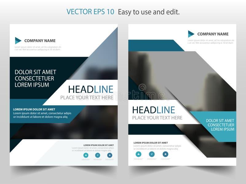 Blå abstrakt vektor för mall för design för årsrapportbroschyrreklamblad, bakgrund för lägenhet för abstrakt begrepp för broschyr royaltyfri illustrationer