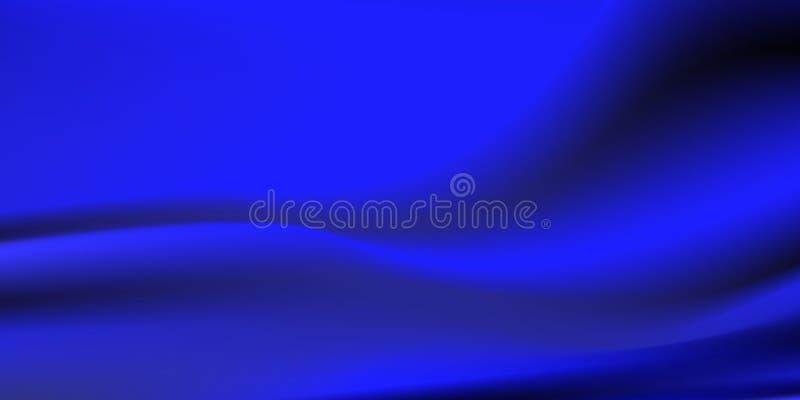Blå abstrakt vektor, vågrörelse, härligt lutningingrepp, bakgrund för tapet för rengöringsdukdesign vektor illustrationer