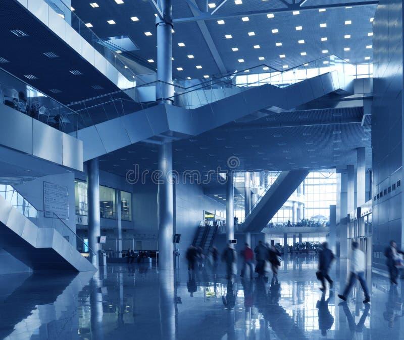 blå affärskorridor arkivfoton