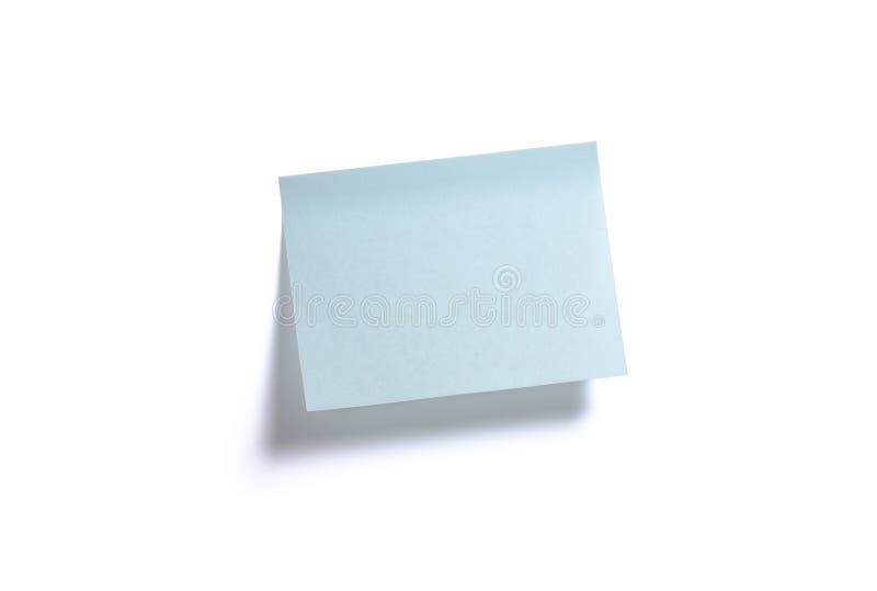 blå anmärkning arkivfoto