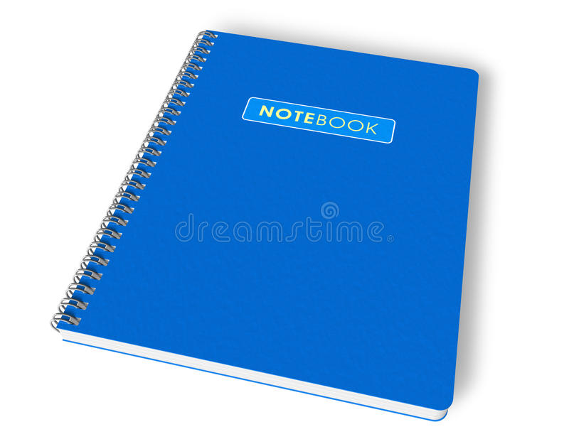 blå anteckningsbok royaltyfri illustrationer