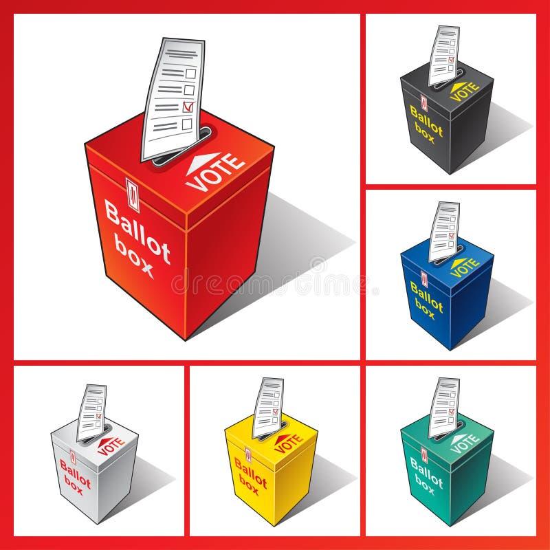 blå ask för bakgrundssluten omröstning som tappar isolerad politisk röd white baluchistan royaltyfri illustrationer