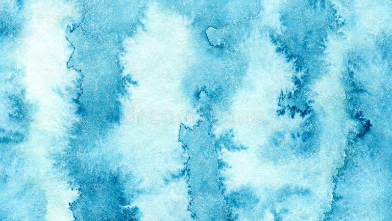 Blå azur abstrakt vattenfärgbakgrund för texturbakgrunder och rengöringsdukbaner planlägger vektor illustrationer
