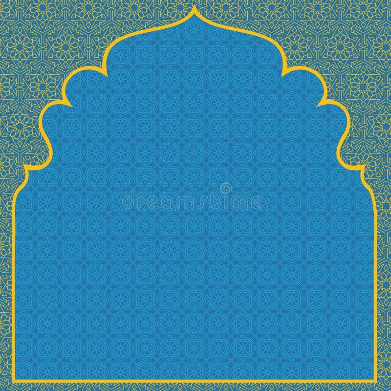 Blå bakgrund för arab royaltyfri illustrationer