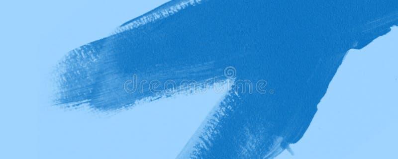 Blå bakgrund för baner för borste för olje- målarfärg royaltyfri bild