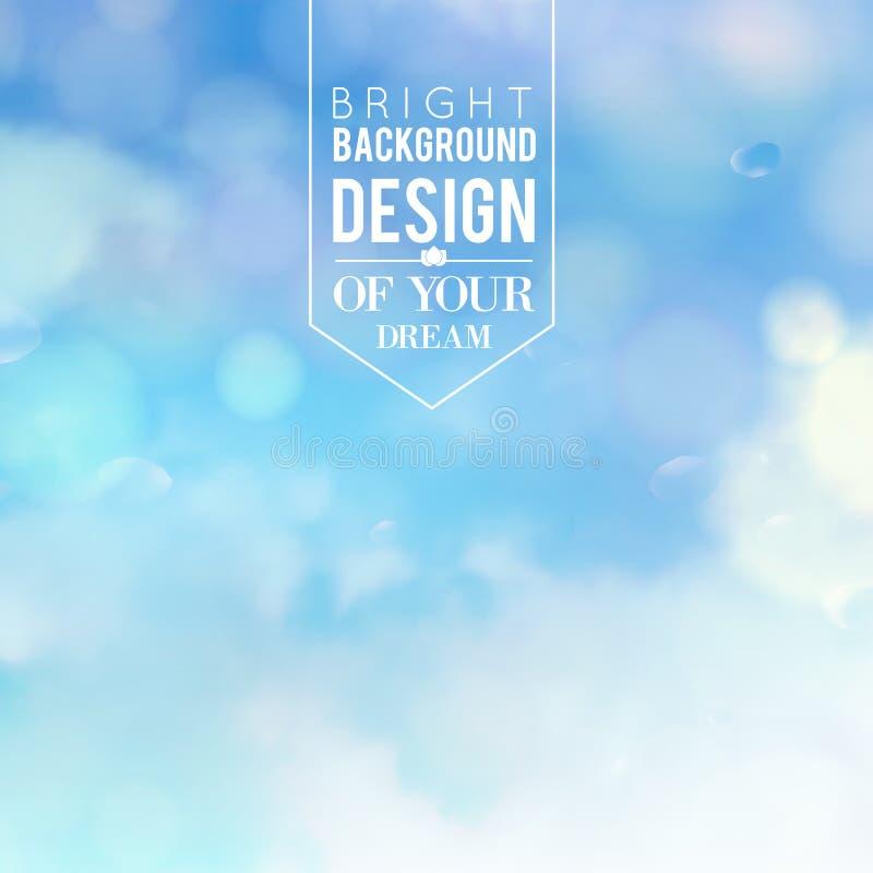 Blå bakgrund för bokehabstrakt begreppljus. fotografering för bildbyråer