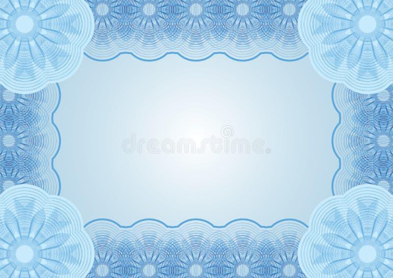 Blå bakgrund för dokument stock illustrationer