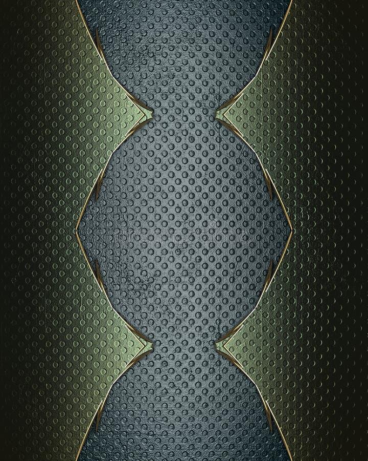 Blå bakgrund för Grunge med en grön gräns Mall för design kopiera utrymme för annonsbroschyr eller meddelandeinbjudan vektor illustrationer