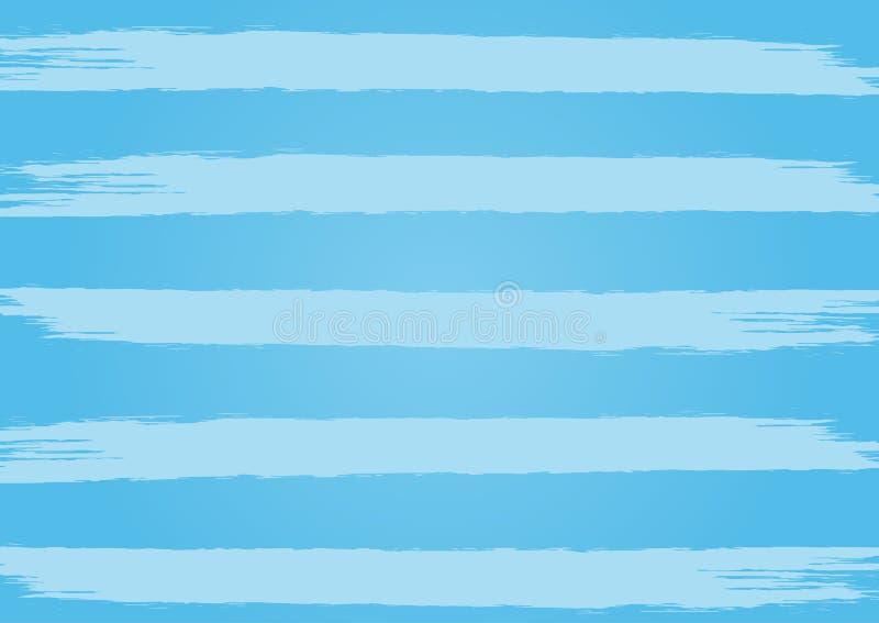 Blå bakgrund för rektangel med horisontalband Målat av en grov borste royaltyfri illustrationer