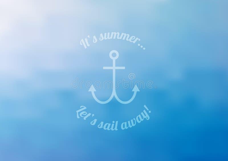 Blå bakgrund för sommar stock illustrationer