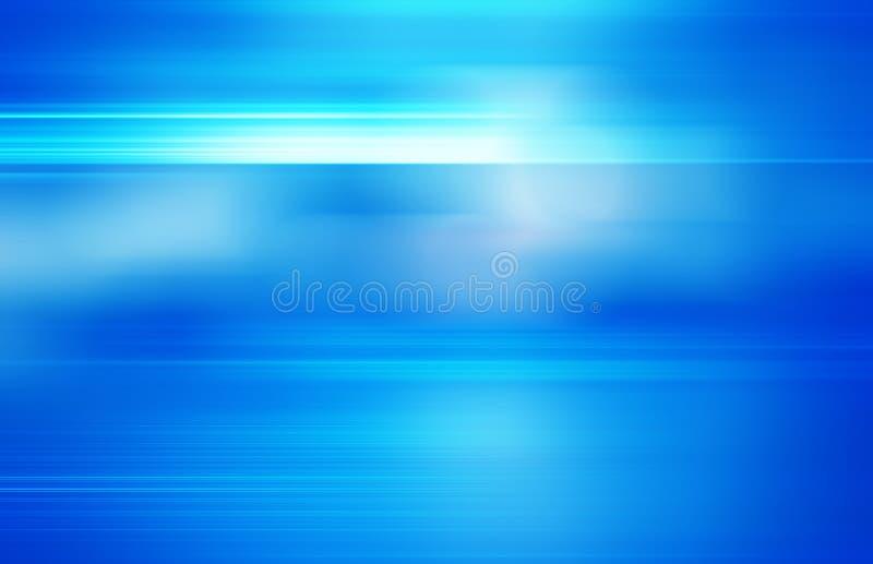 Blå bakgrund för teknologiabstrakt begrepprörelse av hastighetsljus stock illustrationer