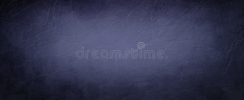 Blå bakgrund med sprucken design för läder- och grungetexturillustration med den mörka gränsen, abstrakt tappningbakgrund stock illustrationer