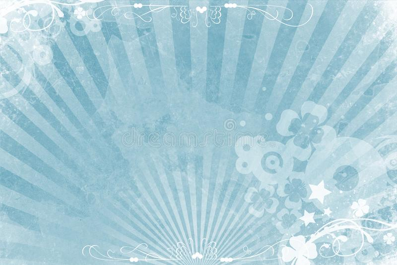 blå bakgrund svalnar stock illustrationer