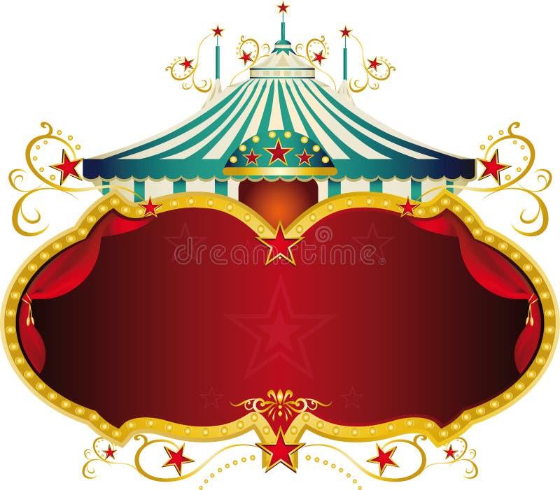 Blå barock cirkusram för magi royaltyfri illustrationer