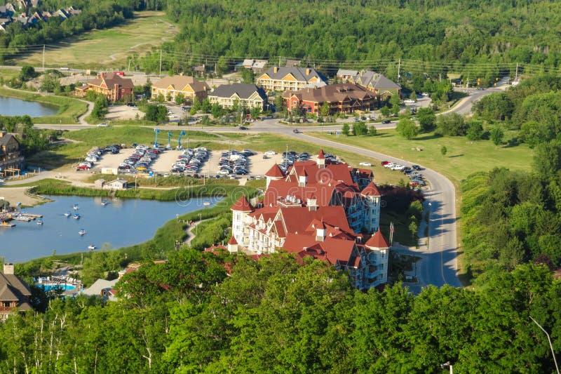 Blå bergby, Ontario Kanada arkivbild